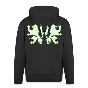 Double Lions - Glow in the dark - Men's Premium Hooded Jacket