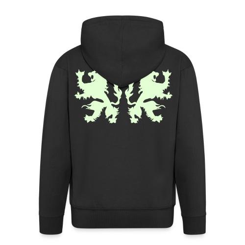 Double Lions - Glow in the dark - Men's Premium Hooded Jacket