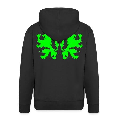 Double Lions - Neongreen - Men's Premium Hooded Jacket