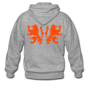 Double Lions - Neonorange - Men's Premium Hooded Jacket