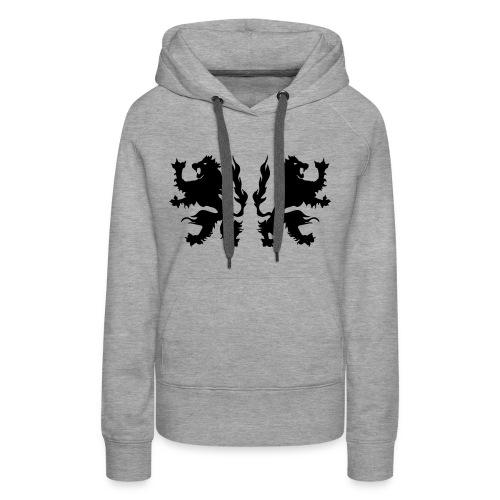 Double Lions - Black print - Women's Premium Hoodie