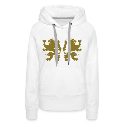 Double Lions - Gold print - Women's Premium Hoodie