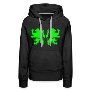 Double Lions - Neongreen - Women's Premium Hoodie