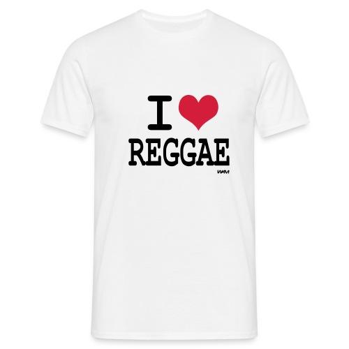 I Love reggae - T-shirt Homme