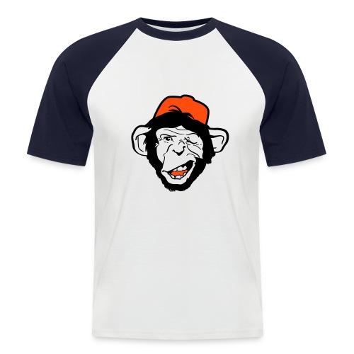 Crazy monkey - Kortärmad basebolltröja herr