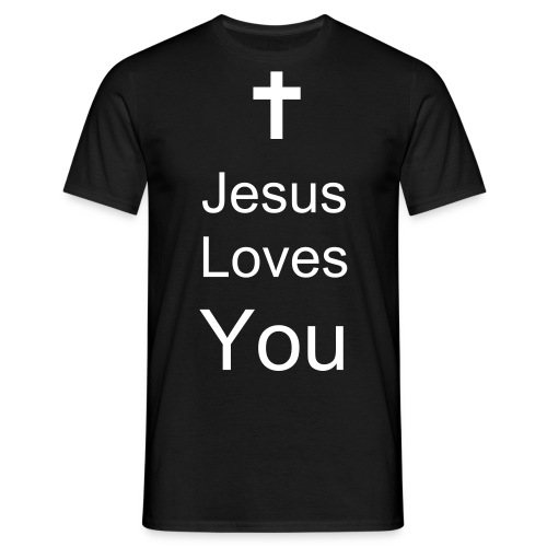 'Jesus Loves You' Male Top - Men's T-Shirt