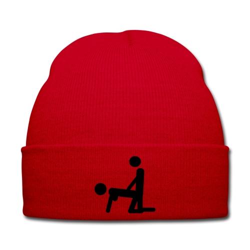 Czapka zimowa koloru czerwonego  - Czapka zimowa