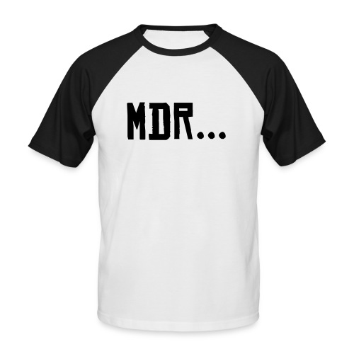 tee shirt court homme style msn - T-shirt baseball manches courtes Homme
