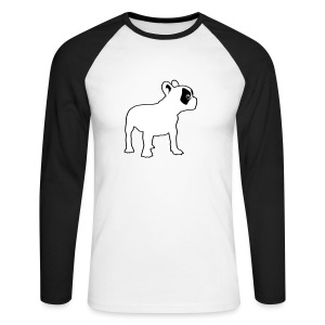 Bouledogue caille - T-shirt baseball manches longues Homme