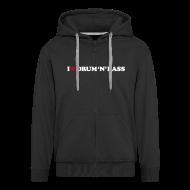 Hoodies & Sweatshirts ~ Men's Premium Hooded Jacket ~ I Love DnB Hoodie w/ zipper
