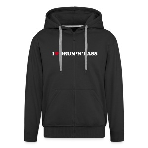 I Love DnB Hoodie w/ zipper - Men's Premium Hooded Jacket