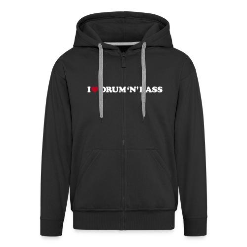 I Love DnB Hoodie w/ zipper - Men's Premium Hooded Jacket