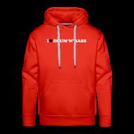 Hoodies & Sweatshirts ~ Men's Premium Hoodie ~ I Love Drum & Bass Hoodie (Red)