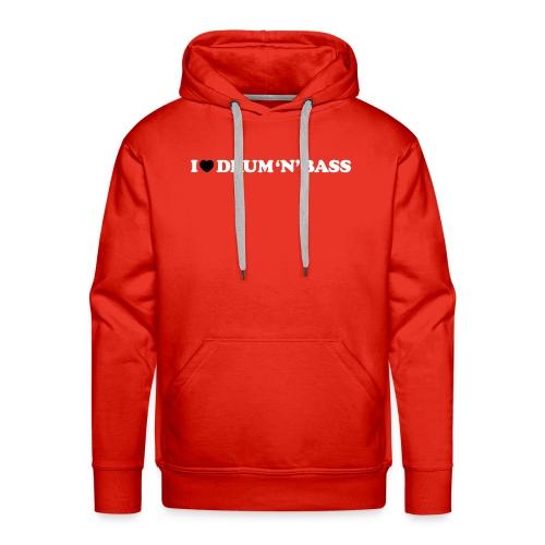 I Love Drum & Bass Hoodie (Red) - Men's Premium Hoodie