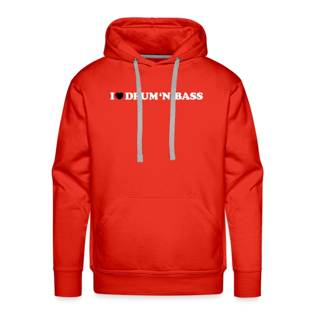 I Love Drum & Bass Hoodie (Red)