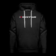Hoodies & Sweatshirts ~ Men's Premium Hoodie ~ I Love Drum & Bass Hoodie (Black)