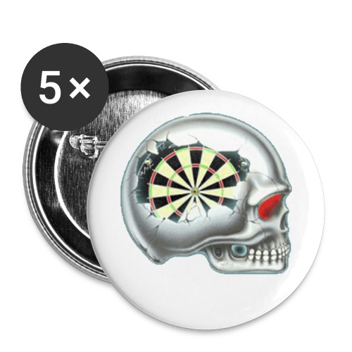 Anstecker klein 25 mm Dartkopf - Buttons klein 25 mm