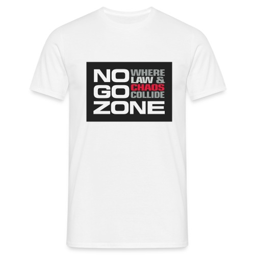 NGZ Logo White T - Men's T-Shirt