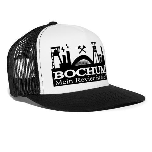 Bochumer Skyline - Mein Revier ist hier! - langärmeliges Männer Baseballshirt - Trucker Cap