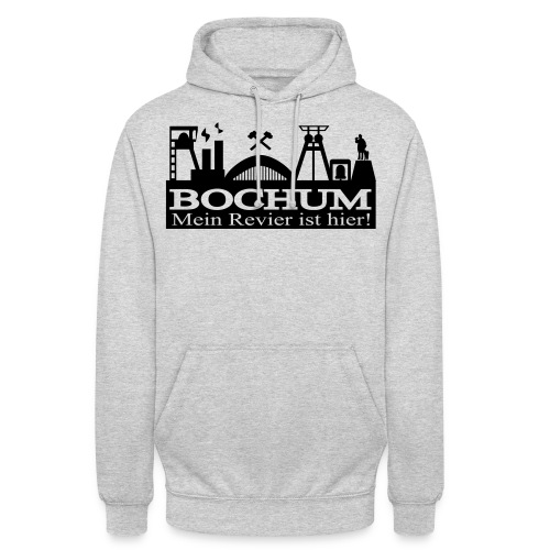 Bochumer Skyline - Mein Revier ist hier! - langärmeliges Männer Baseballshirt - Unisex Hoodie