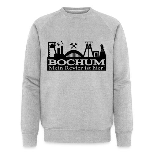 Bochumer Skyline - Mein Revier ist hier! - langärmeliges Männer Baseballshirt - Männer Bio-Sweatshirt von Stanley & Stella