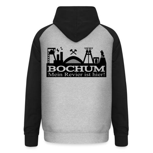 Bochumer Skyline - Mein Revier ist hier! - langärmeliges Männer Baseballshirt - Unisex Baseball Hoodie