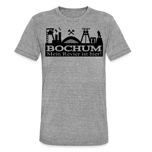Bochumer Skyline - Mein Revier ist hier! - langärmeliges Männer Baseballshirt - Unisex Tri-Blend T-Shirt von Bella + Canvas