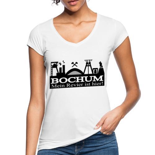 Bochumer Skyline - Mein Revier ist hier! - langärmeliges Männer Baseballshirt - Frauen Vintage T-Shirt