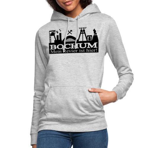 Bochumer Skyline - Mein Revier ist hier! - langärmeliges Männer Baseballshirt - Frauen Hoodie