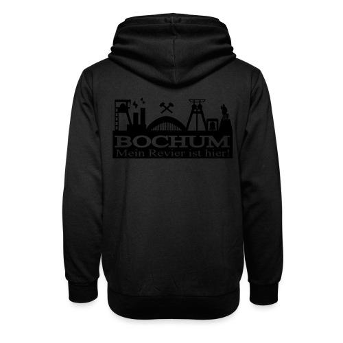 Bochumer Skyline - Mein Revier ist hier! - langärmeliges Männer Baseballshirt - Schalkragen Hoodie