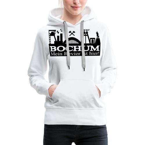 Bochumer Skyline - Mein Revier ist hier! - langärmeliges Männer Baseballshirt - Frauen Premium Hoodie