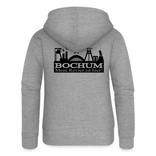 Bochumer Skyline - Mein Revier ist hier! - langärmeliges Männer Baseballshirt - Frauen Premium Kapuzenjacke