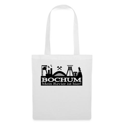 Bochumer Skyline - Mein Revier ist hier! - langärmeliges Männer Baseballshirt - Stoffbeutel