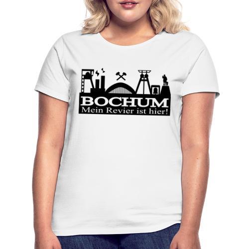 Bochumer Skyline - Mein Revier ist hier! - langärmeliges Männer Baseballshirt - Frauen T-Shirt