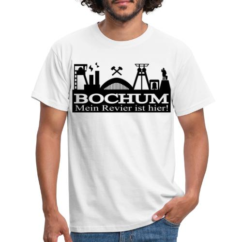 Bochumer Skyline - Mein Revier ist hier! - langärmeliges Männer Baseballshirt - Männer T-Shirt