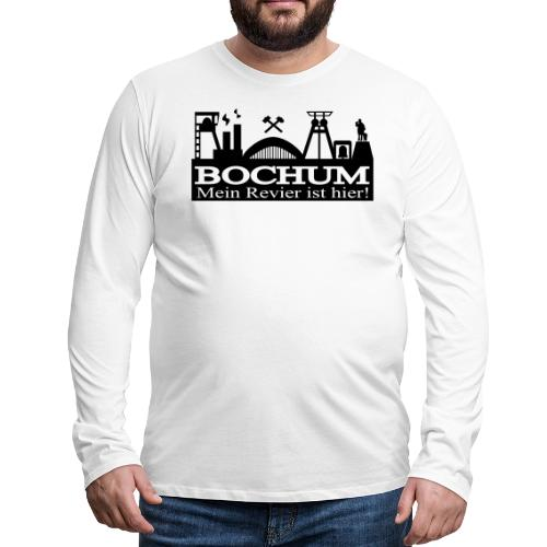 Bochumer Skyline - Mein Revier ist hier! - langärmeliges Männer Baseballshirt - Männer Premium Langarmshirt
