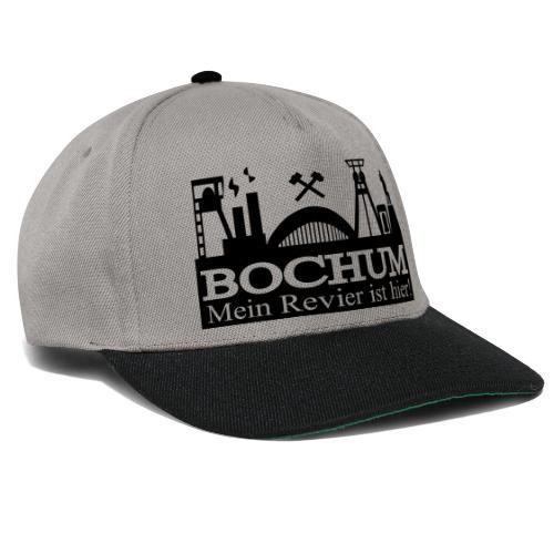 Bochumer Skyline - Mein Revier ist hier! - langärmeliges Männer Baseballshirt - Snapback Cap