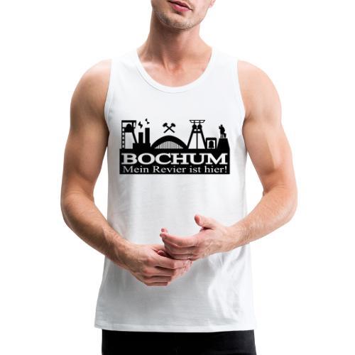 Bochumer Skyline - Mein Revier ist hier! - langärmeliges Männer Baseballshirt - Männer Premium Tank Top