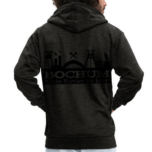 Bochumer Skyline - Mein Revier ist hier! - langärmeliges Männer Baseballshirt - Männer Premium Kapuzenjacke
