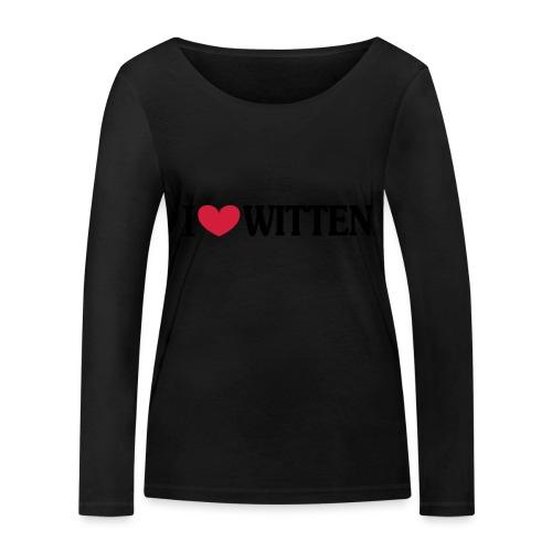 I love Witten (horizontal) - Männer Kapuzenpulli - Frauen Bio-Langarmshirt von Stanley & Stella