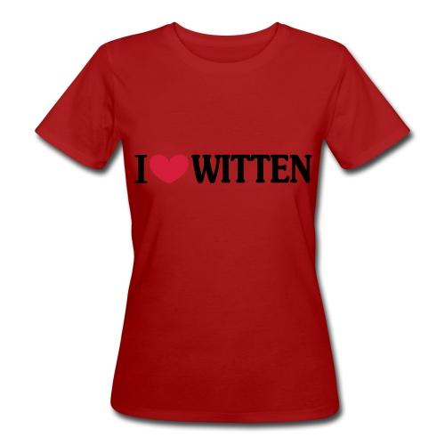 I love Witten (horizontal) - Männer Kapuzenpulli - Frauen Bio-T-Shirt