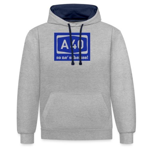 A 40 - so ne' scheisse! - Männer T-Shirt klassisch - Kontrast-Hoodie