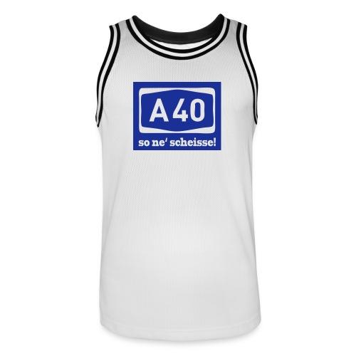 A 40 - so ne' scheisse! - Männer T-Shirt klassisch - Männer Basketball-Trikot