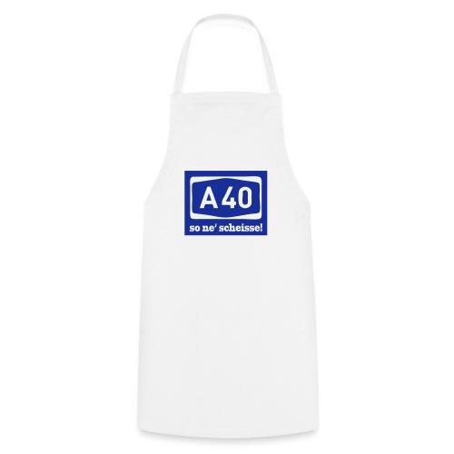 A 40 - so ne' scheisse! - Männer T-Shirt klassisch - Kochschürze