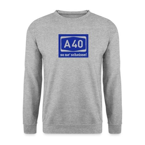 A 40 - so ne' scheisse! - Männer T-Shirt klassisch - Männer Pullover