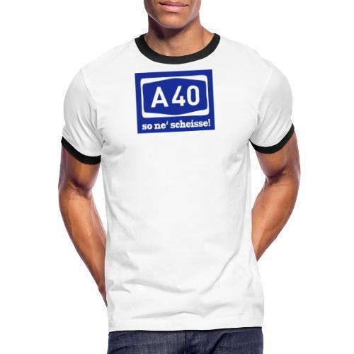 A 40 - so ne' scheisse! - Männer T-Shirt klassisch - Männer Kontrast-T-Shirt