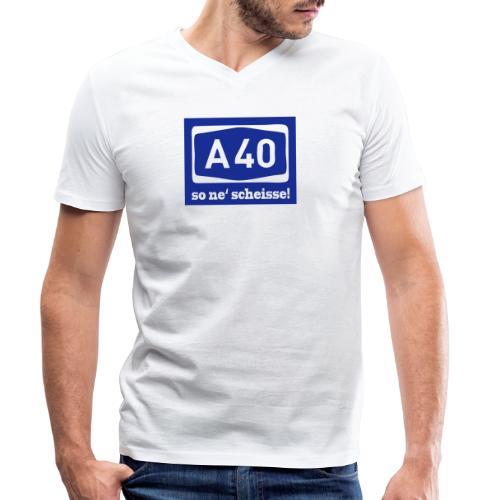 A 40 - so ne' scheisse! - Männer T-Shirt klassisch - Männer Bio-T-Shirt mit V-Ausschnitt von Stanley & Stella