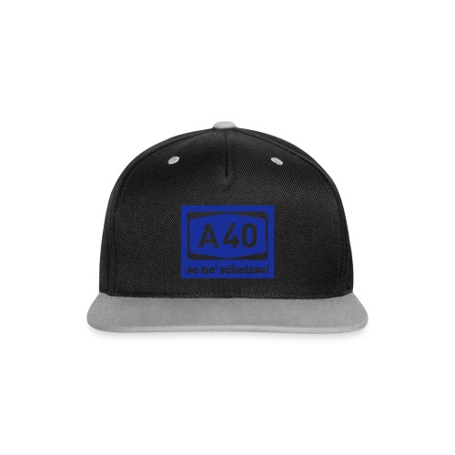 A 40 - so ne' scheisse! - Männer T-Shirt klassisch - Kontrast Snapback Cap
