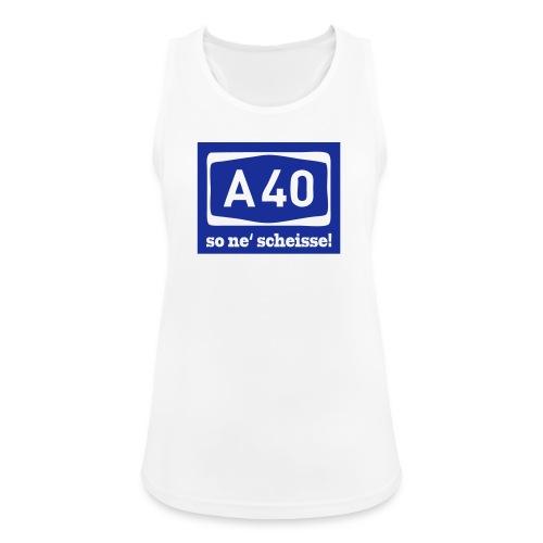 A 40 - so ne' scheisse! - Männer T-Shirt klassisch - Frauen Tank Top atmungsaktiv