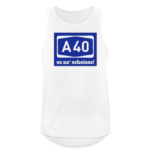 A 40 - so ne' scheisse! - Männer T-Shirt klassisch - Männer Tank Top atmungsaktiv